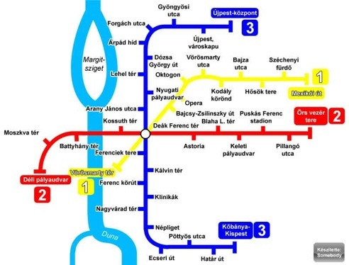 Budapest Subway Map English.Public Transit